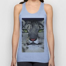 The Eyes Have It - Snow Leopard Unisex Tank Top