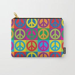 Pop Art Peace Symbols Carry-All Pouch