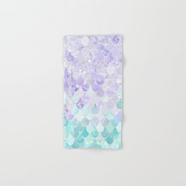 Mermaid Iridescent Purple and Teal Pattern Hand & Bath Towel
