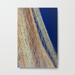 Nylon fishnet on the clear sky Metal Print