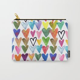 Hearts No. 1 Carry-All Pouch