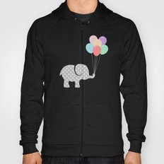 Elephant playing with balloons (children) Hoody