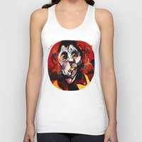 boxing Tank Tops featuring Boxing Bacon by Genco Demirer