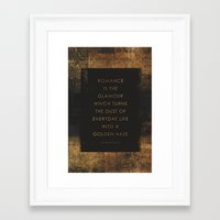 romance Framed Art Prints featuring Romance by NOT MY TYPE