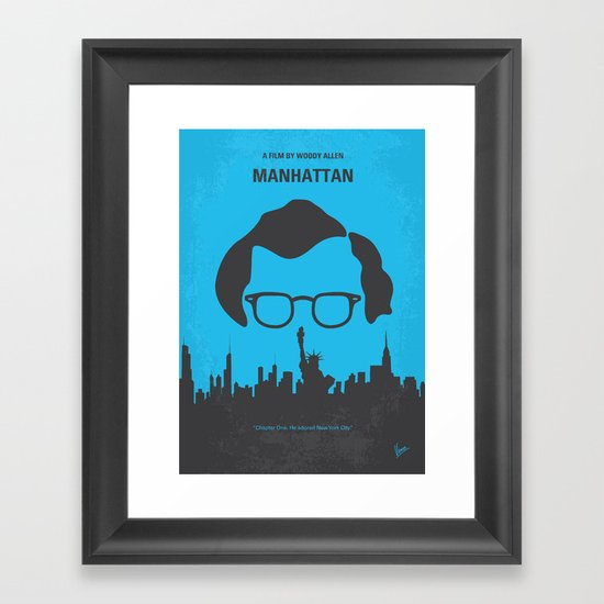 No146 My Manhattan minimal movie poster Framed Art Print