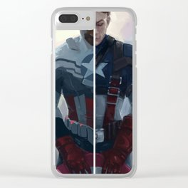 i do what he does, just slower Clear iPhone Case