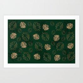 cheese plant repeat pattern Art Print