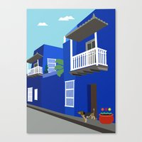 colombia Canvas Prints featuring Colombia  by Design4u Studio