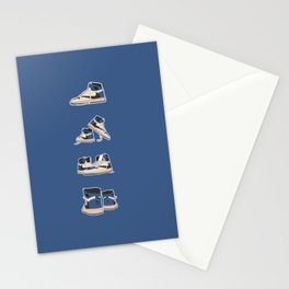 fragment x travis x air jordan 4 pairs sneaker poster  Stationery Cards