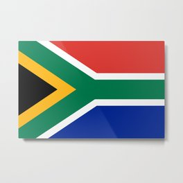 Flag of South Africa, Authentic color & scale Metal Print