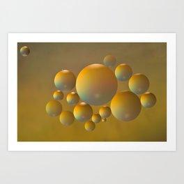 Distant moon. Art Print