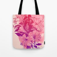 hibiscus Tote Bags featuring Hibiscus by Magenda