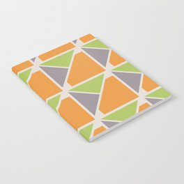 Retro Geometry surface pattern (Orange-green) Notebook