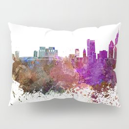 Mobile skyline in watercolor background Pillow Sham