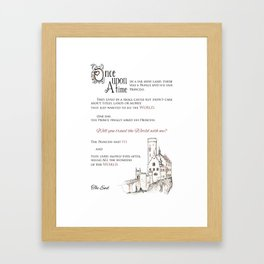 Would you travel with me? Framed Art Print