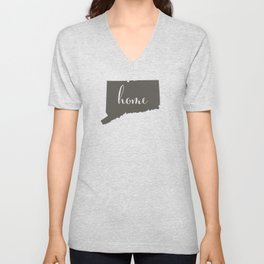 Connecticut is Home Unisex V-Neck
