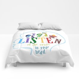 listen to the voices in your head.. inside out Comforters