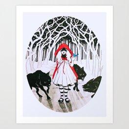Amongst Wolves Art Print