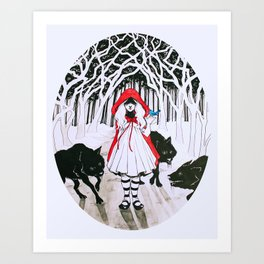 Amongst Wolves Art Print