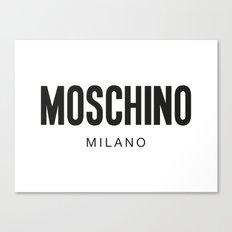 Moschino Milano Canvas Print