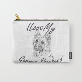 I Love My German Shepherd Carry-All Pouch