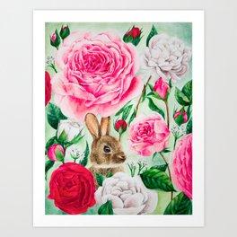 Brown Rabbit Art Print