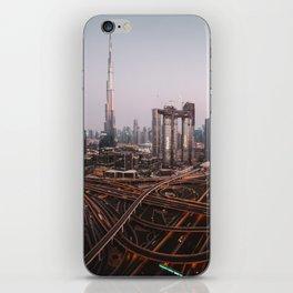 Dubai Skyline at Night | Travel Photography | iPhone Skin