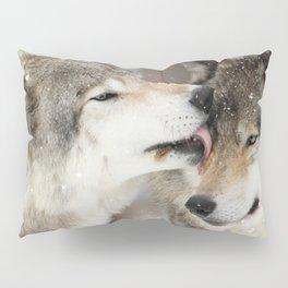 Wolf Kisses Pillow Sham