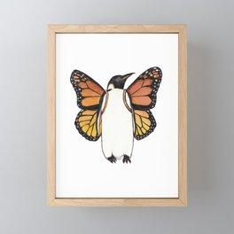 Butterfly Penguin Framed Mini Art Print
