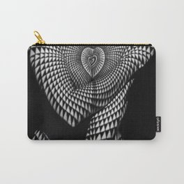 0622-JAL Heart Shape Pattern on Breasts and Nude Body Abstracted by Optical Patten Carry-All Pouch