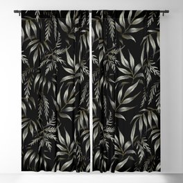 Brooklyn Forest - Black Blackout Curtain