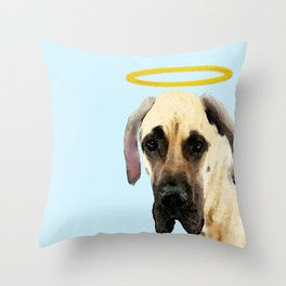 Great Dane Art - I Didn't Do It Throw Pillow