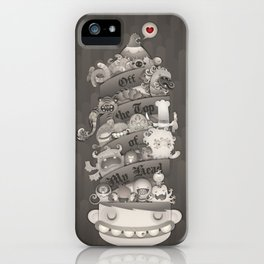 Off the Top of My Head iPhone Case