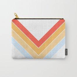 Symmetric V Shape Colorful Classic Retro Stripes Oneuli Carry-All Pouch