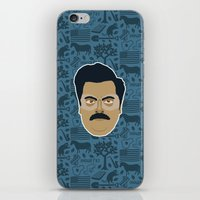 parks and recreation iPhone & iPod Skins featuring Ron Swanson - Parks and recreation by Kuki