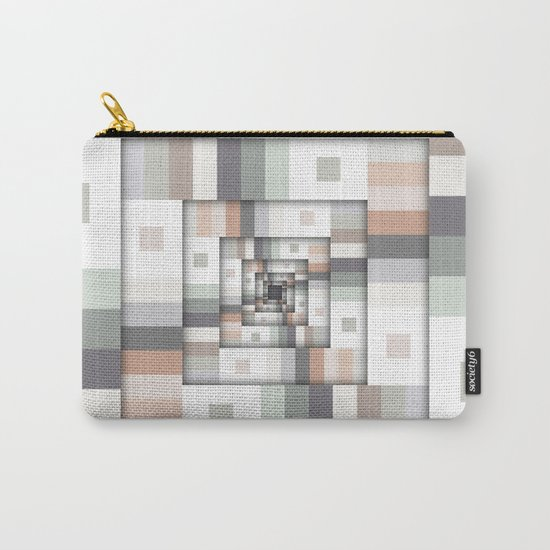 Colorful Geometric Layers Carry-All Pouch