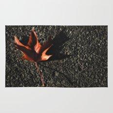 red leaf. Rug