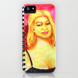 Euro Blonde from A Sketchbook iPhone Case