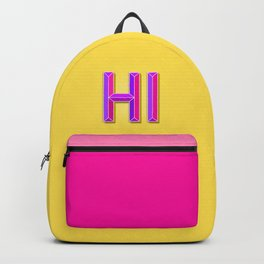 """""""HI"""" 3D Letters (Yellow, Purple & Hot Pink) Backpack"""
