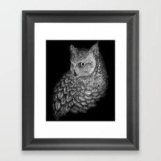 A Friend for Forsythe in Black Framed Art Print