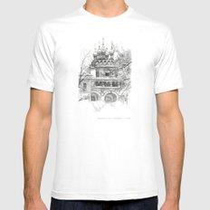 Winter Joseph-Volokolamsk Monastery SK031 Mens Fitted Tee MEDIUM White