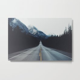 Mountain Road #forest Metal Print