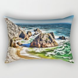 Amazing Surge Patterns in the Surf at Point Reyes, Calfornia Rectangular Pillow