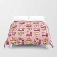 kitty Duvet Covers featuring Kitty by ilana exelby