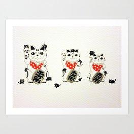 Fa Cai Mao (Prosperity Cat). Art Print