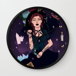 Hedge Witch Wall Clock