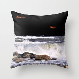 Bounce and Hope Throw Pillow