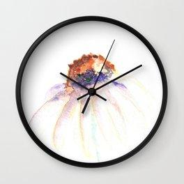 Daisy. Echinacea. watercolor Wall Clock