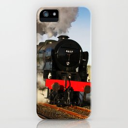 46115 Scots Guardsman Steaming Through Hellifield iPhone Case