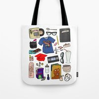 ghost world Tote Bags featuring Ghost World by Shanti Draws